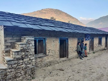 Rawa Dolu school before any rebuilding work has taken place