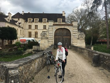 I've been training in 5 days a week and riding through little villages in France!