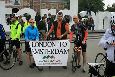 The London to Amsterdam Cycle Team