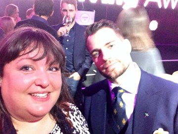 Sweating slightly with Superman at the Just Giving awards