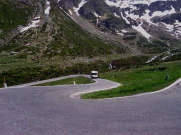 Splugen Pass in the Alps