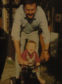 Me and my dad in the early 1990s.