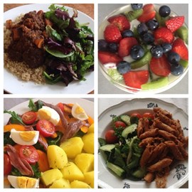 Some of my favourite meals so far No bread, no rice and no chicken!