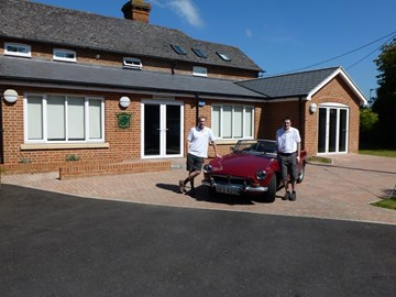 At the home of the MG Car Club, Abingdon