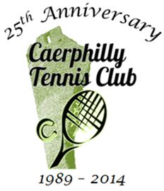 Caerphilly Tennis Club 25th Anniversary Logo