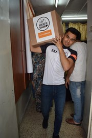 Food parcel distribution today