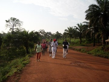 My running team in Sierra Leone