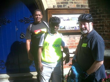 Cecil, Shola and Clive at Theydon Bois