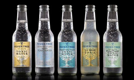 Selection of tonics and mixers Fever Tree - www.fever-tree.com