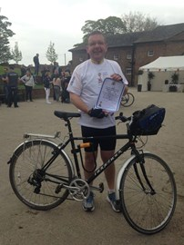 That's me at the finish at Temple Newsam