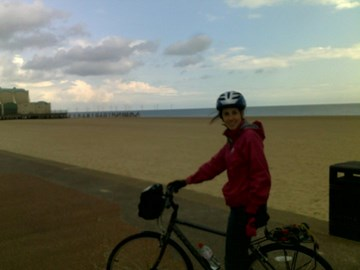 Jessica training in Great Yarmouth