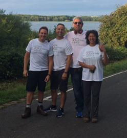A total of £1,720 raised from the 22 mile Rutland Water Walk - well done guys!