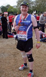 Tired, happy and hungry after the race!