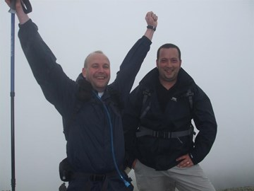 Ronnie & Martin at the summit of Scafell