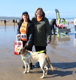 Guide dog Vivvy and i having just completed a similar event called Waggy races.