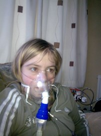 Me on my nebuliser and oxygen