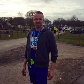 Our MD, Martyn Makinson, after running the Tatton Park 10k