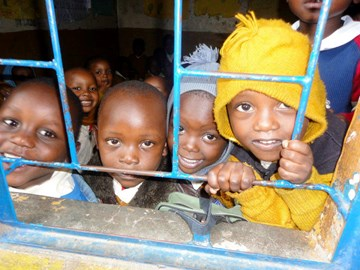 Sponsored children in Mathare, Kenya