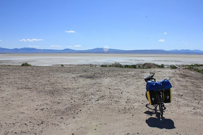 Bike with Great Salt Lake