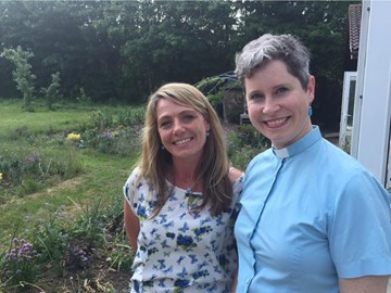 Rev Rachel with Kerry Nicholls for Swalecliffe Day Opportunities