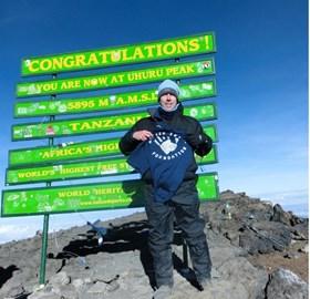 On top of Mt Kilimanjaro