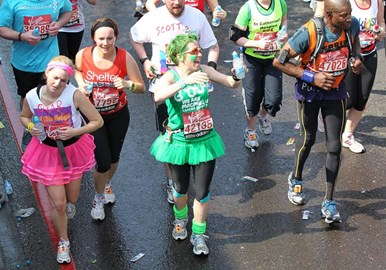 Mile 13 in the London Marathon 2011