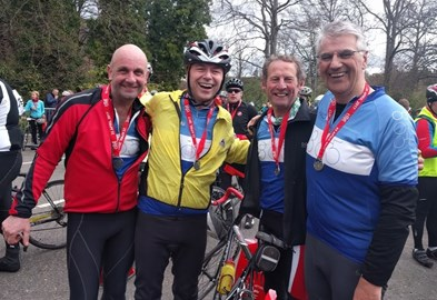 Jim, Allan, Stan and me after Caledonian Etape 2017