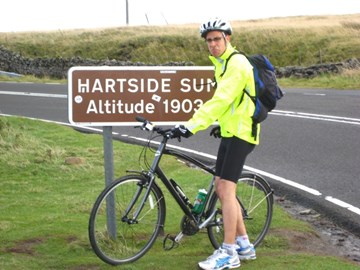 At the top of Hartside on the c2c
