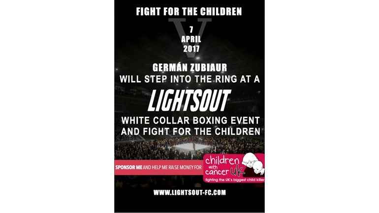 german zubiaur is fundraising for children with cancer uk