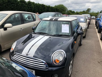 Mini at British Car Auctions prior to purchase.