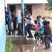 Students in Namanongo rush into class
