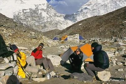 Island Peak base camp, not quite so cosy