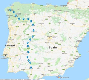 Almost the length of Spain...