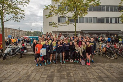 All the Choose A Challenge team running for WCR at Amsterdam :)