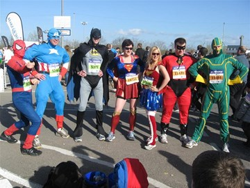 The heroes before the race starts