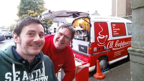Day 8 and the local coffee vendor wanted in on the action! Al Cappuccino folks, ever in Arbroath - get some coffee!