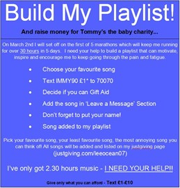 Build my Playlist details here!