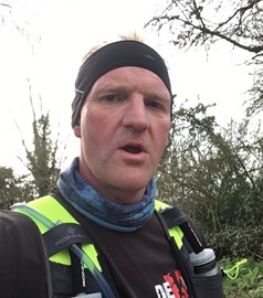 Selfie at mile 17......was getting bored!