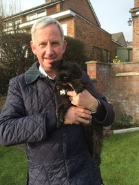 John with his dearly loved dog Bertie