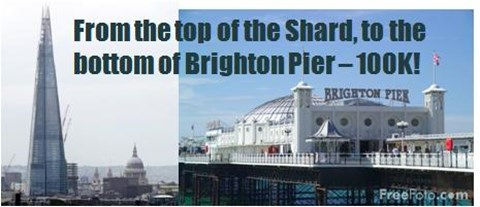 The top of Shard to Brighton pier
