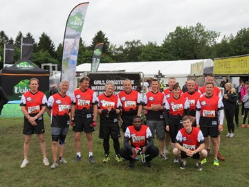 The clean team at the start