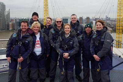SCA UK members do the O2 Arena Dome walk
