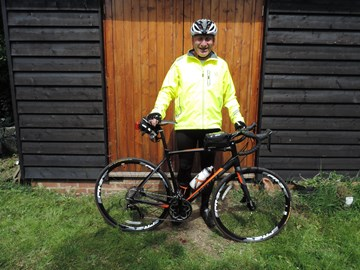 I've got the new bike and kit. It's now down to some serious training and fundraising. Thank you everyone for your support.