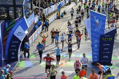 TCS NYC Marathon - Crossing the finish line