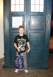 Andrew at the Dr Who Exhibition