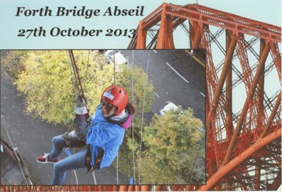 Claire Abseiling