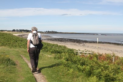 On the way to Alnwick, approaching Boulmer - before The Fall