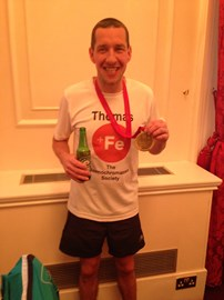 Me after completing last years London marathon