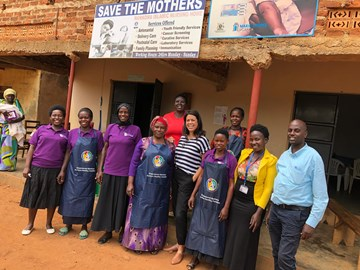 With m2m Mentor Mothers in Uganda, July 2018