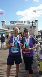 Brighton - with our three medals so far
